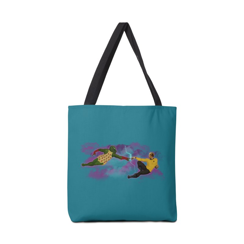 Kirk and Gorn Accessories Tote Bag Bag by ferg's Artist Shop
