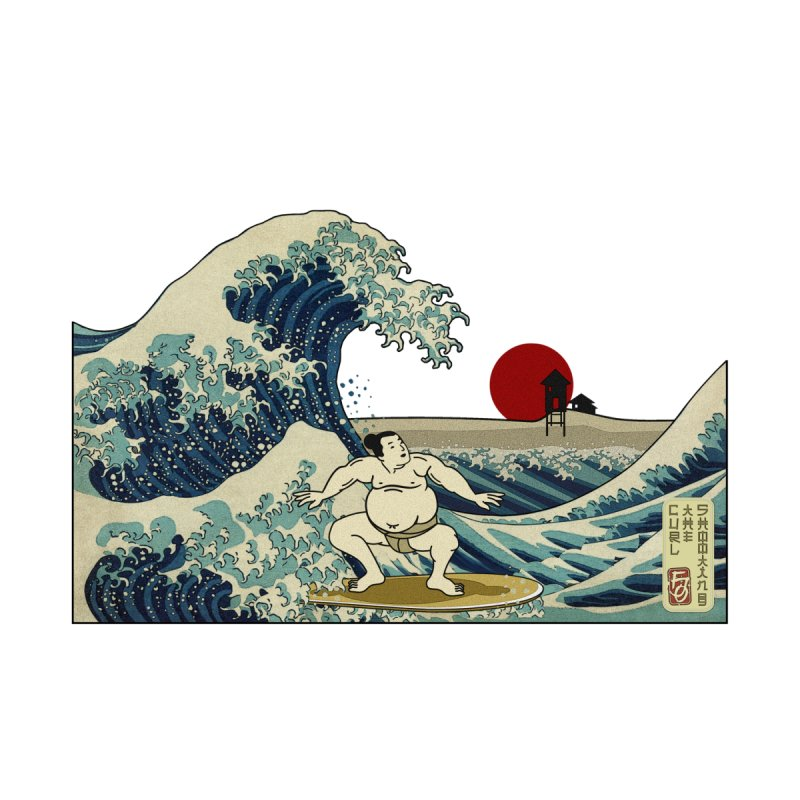 Hokusai Surfer None  by ferg's Artist Shop