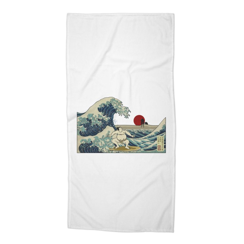 Hokusai Surfer Accessories Beach Towel by ferg's Artist Shop