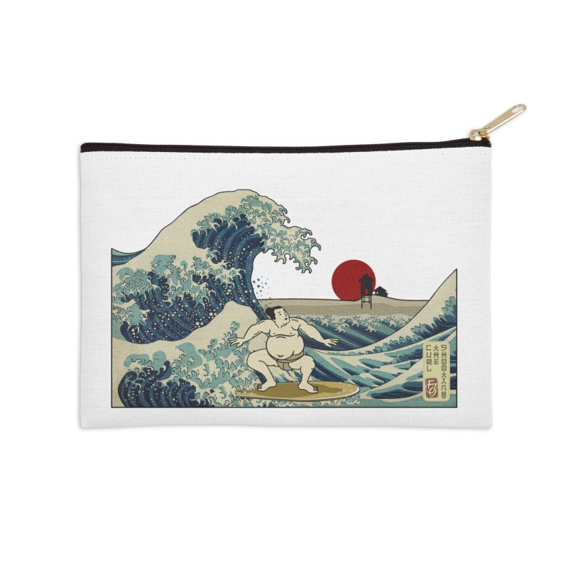 Hokusai Surfer Accessories Zip Pouch by ferg's Artist Shop