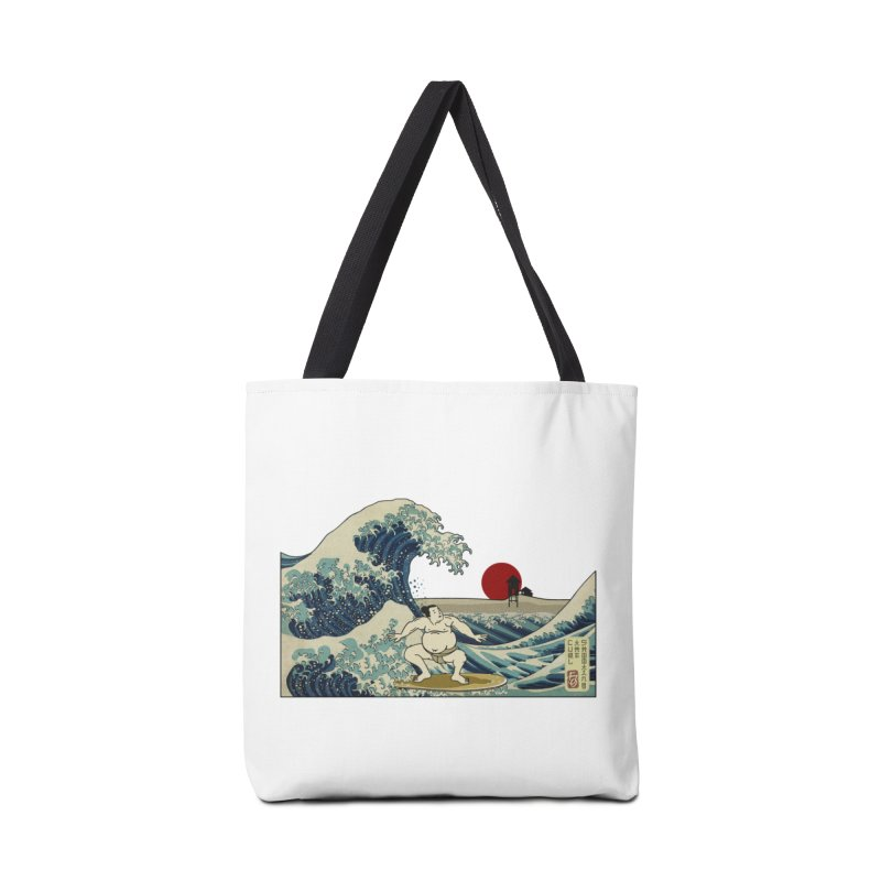 Hokusai Surfer Accessories Tote Bag Bag by ferg's Artist Shop