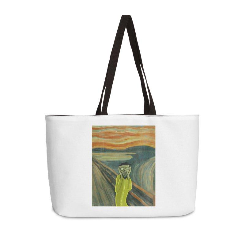 Munchenberg Accessories Weekender Bag Bag by ferg's Artist Shop