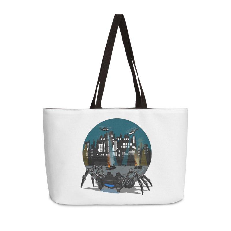 Dual Shock Crab Accessories Weekender Bag Bag by ferg's Artist Shop
