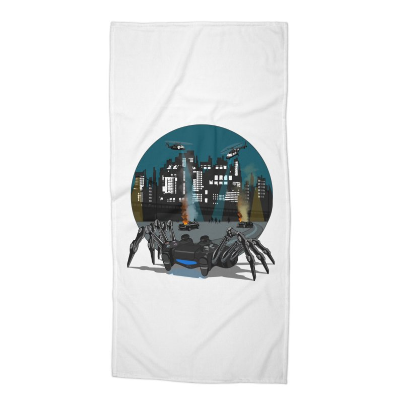 Dual Shock Crab Accessories Beach Towel by ferg's Artist Shop