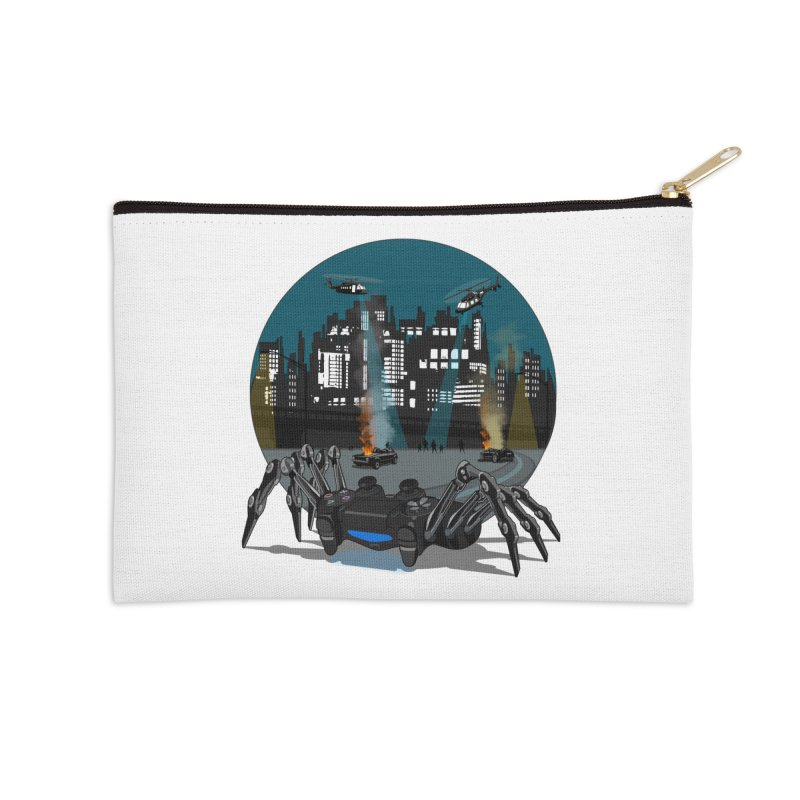 Dual Shock Crab Accessories Zip Pouch by ferg's Artist Shop