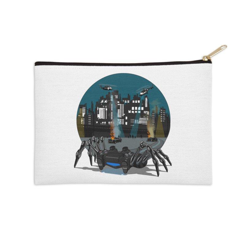 Dual Shock Crab Accessories Zip Pouch by ferg's Artist Shop