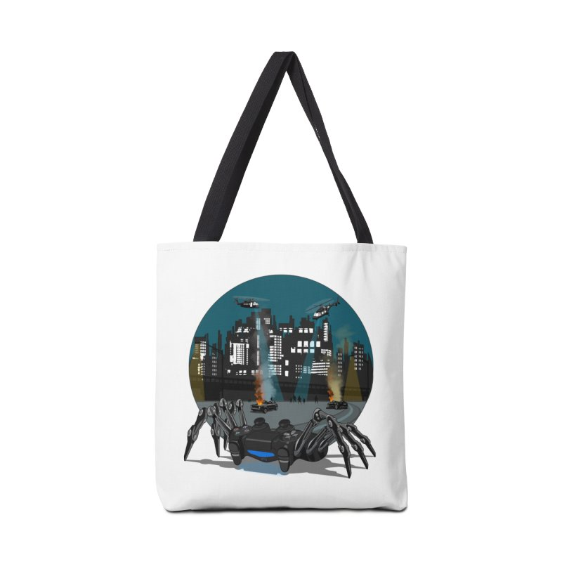 Dual Shock Crab Accessories Tote Bag Bag by ferg's Artist Shop