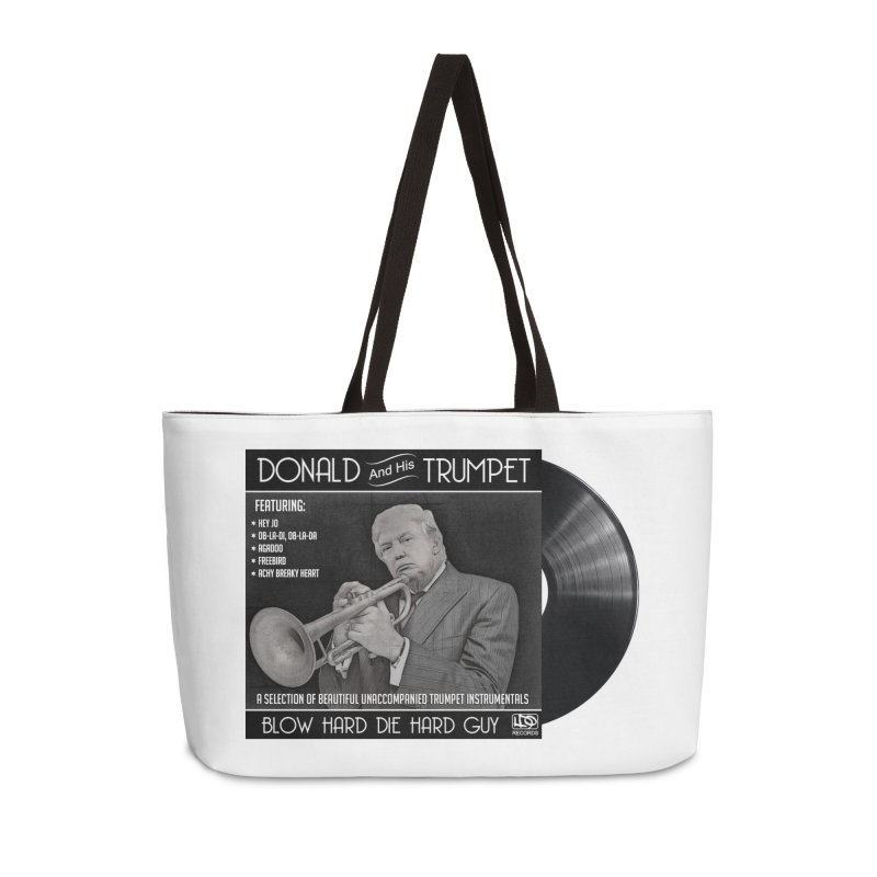 Donalds Trumpet Accessories Weekender Bag Bag by ferg's Artist Shop