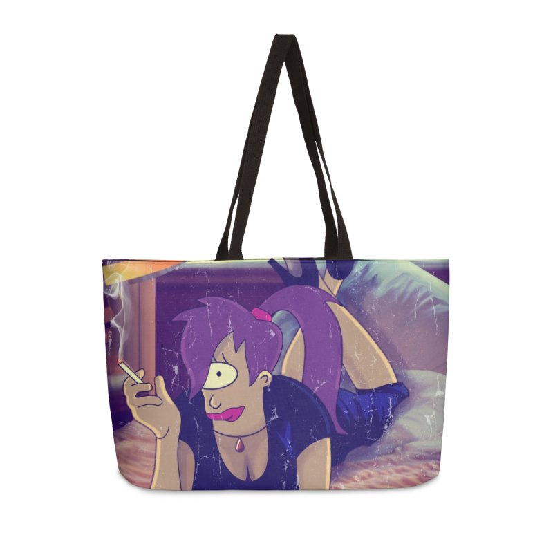 Pulp Romance Accessories Weekender Bag Bag by ferg's Artist Shop