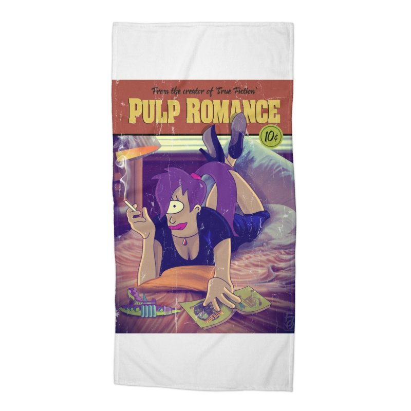 Pulp Romance Accessories Beach Towel by ferg's Artist Shop