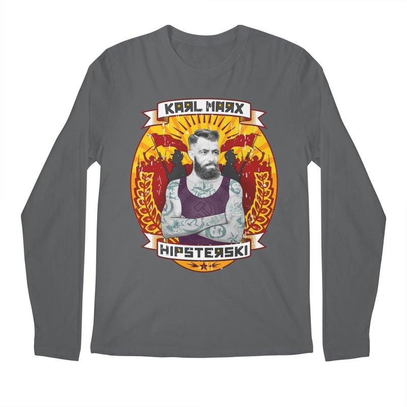 Karl Marx Hipster Men's Regular Longsleeve T-Shirt by ferg's Artist Shop