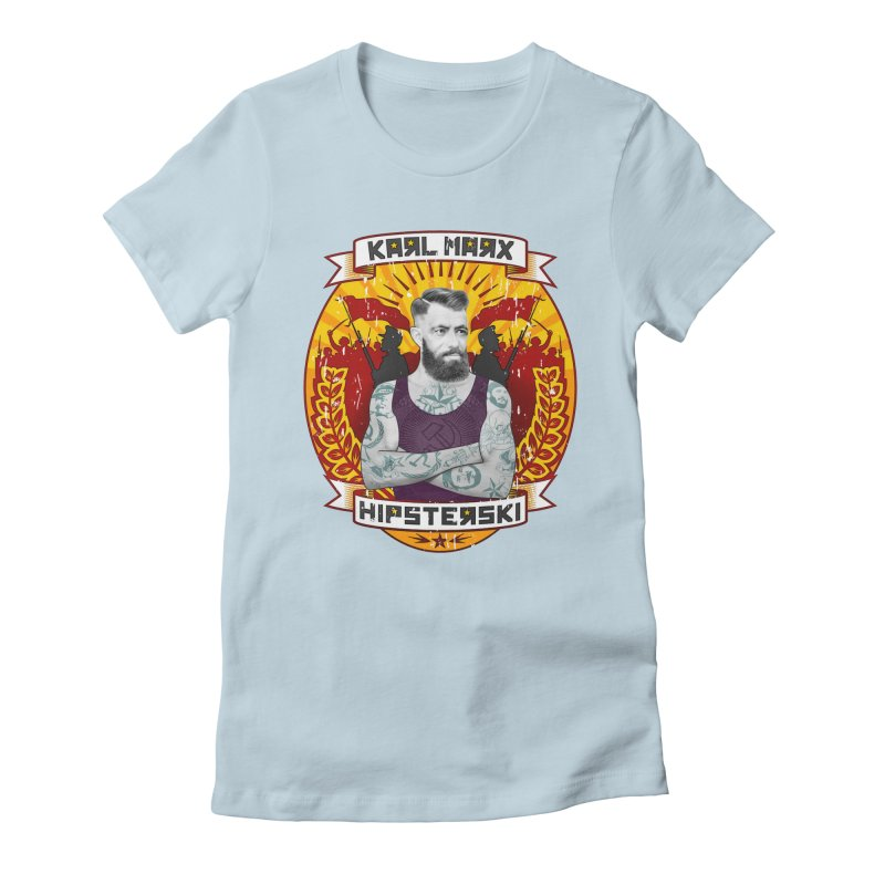 Karl Marx Hipster Women's Fitted T-Shirt by ferg's Artist Shop