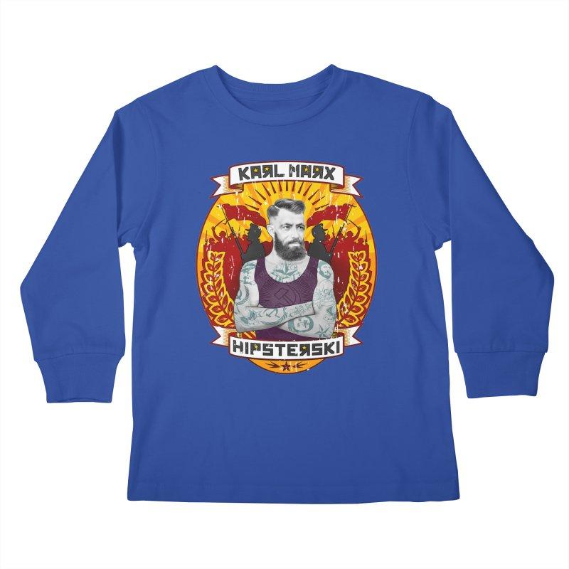 Karl Marx Hipster Kids Longsleeve T-Shirt by ferg's Artist Shop