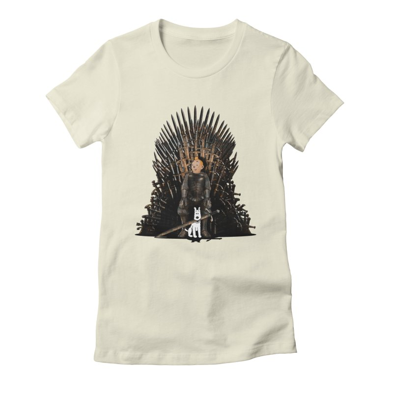 The Dire Wolf Women's Fitted T-Shirt by ferg's Artist Shop