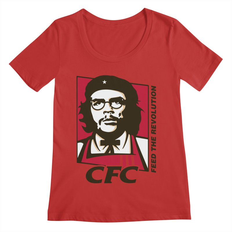 Che's Fried Chicken Women's Regular Scoop Neck by ferg's Artist Shop