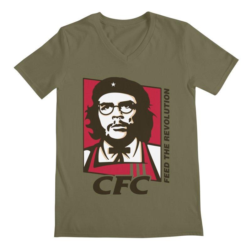 Che's Fried Chicken Men's Regular V-Neck by ferg's Artist Shop