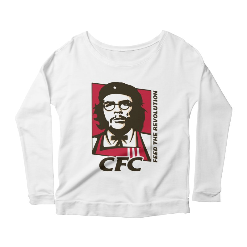 Che's Fried Chicken Women's Longsleeve Scoopneck  by ferg's Artist Shop