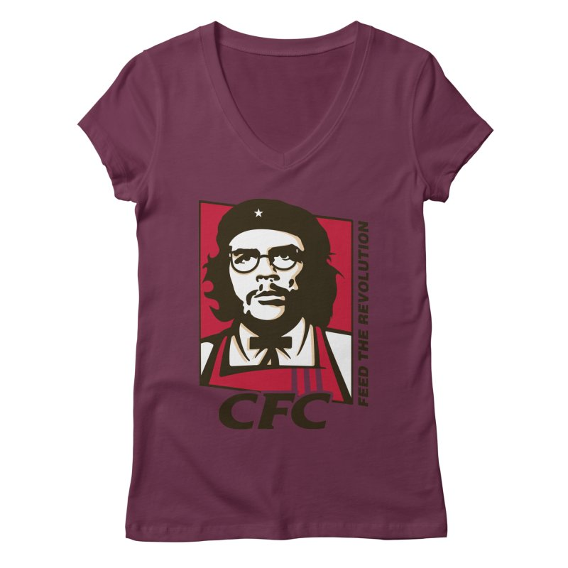 Che's Fried Chicken Women's Regular V-Neck by ferg's Artist Shop