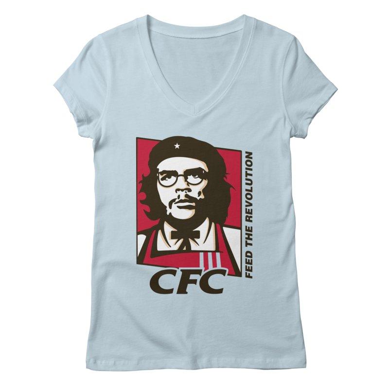 Che's Fried Chicken Women's V-Neck by ferg's Artist Shop