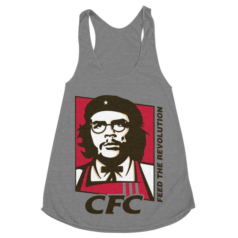 Che's Fried Chicken Women's Racerback Triblend Tank by ferg's Artist Shop