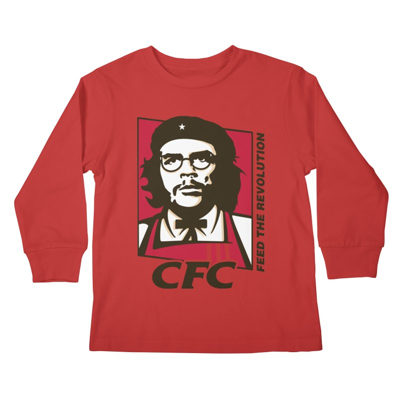 Che's Fried Chicken Kids Longsleeve T-Shirt by ferg's Artist Shop