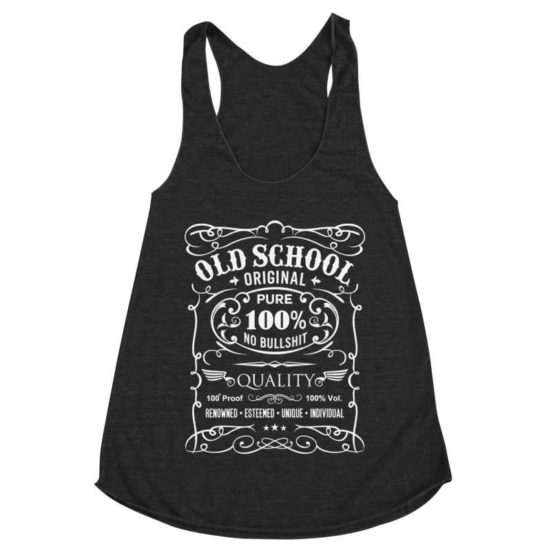 Old School Women's Racerback Triblend Tank by ferg's Artist Shop