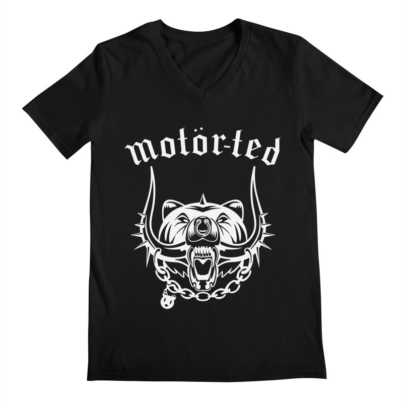 Motor Ted Men's V-Neck by ferg's Artist Shop