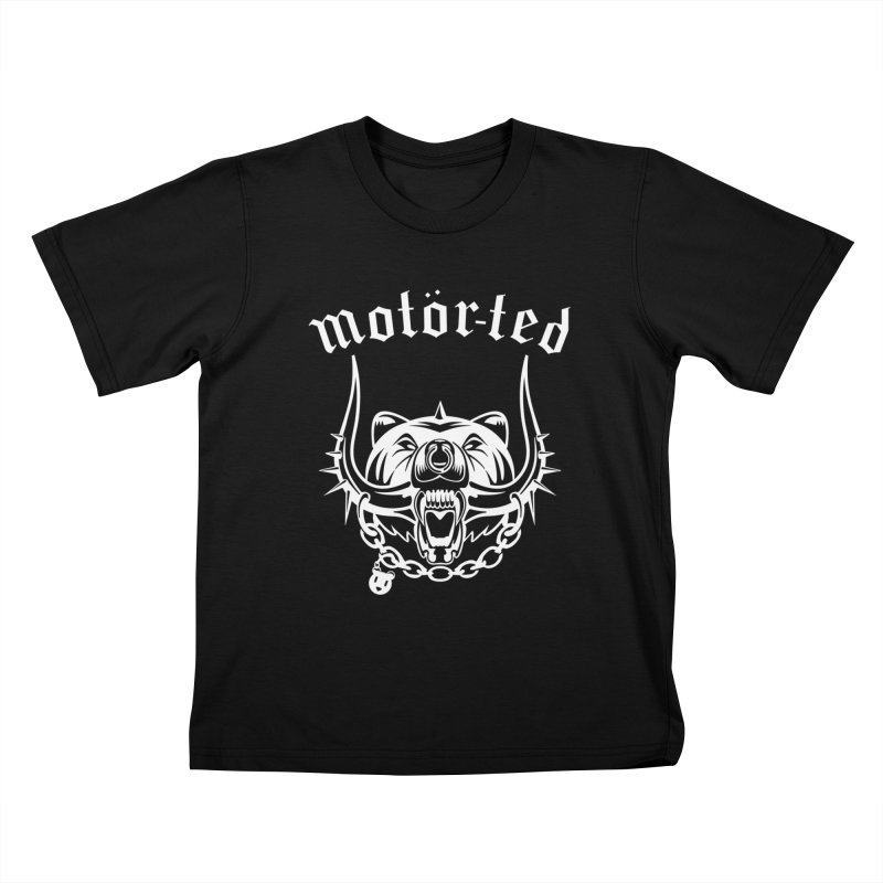 Motor Ted Kids T-Shirt by ferg's Artist Shop