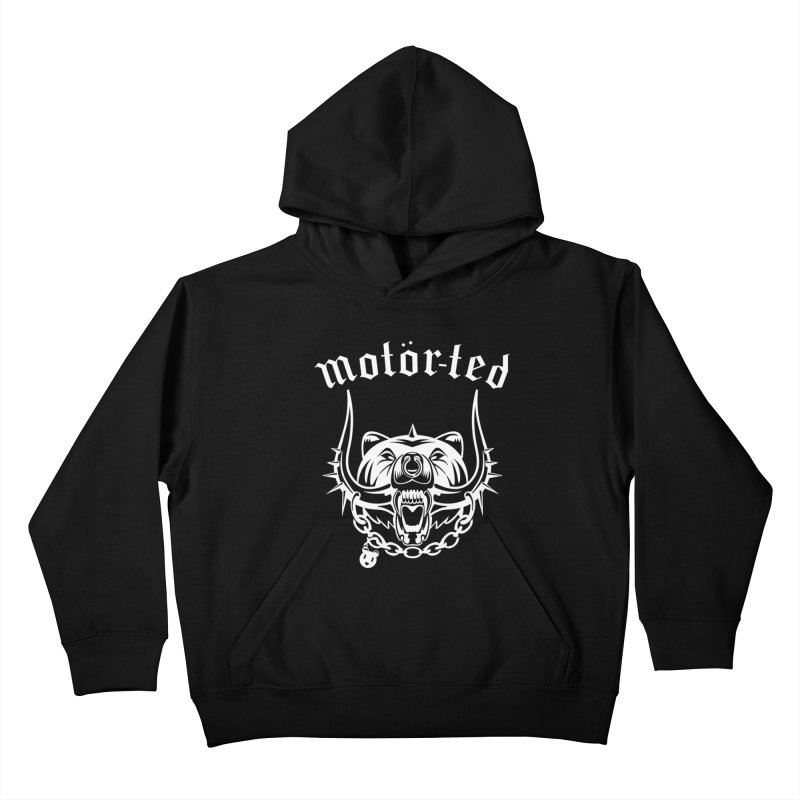 Motor Ted Kids Pullover Hoody by ferg's Artist Shop