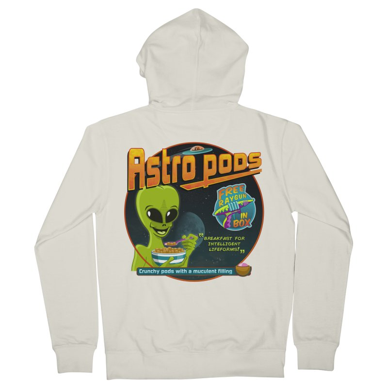 Astropods Men's French Terry Zip-Up Hoody by ferg's Artist Shop