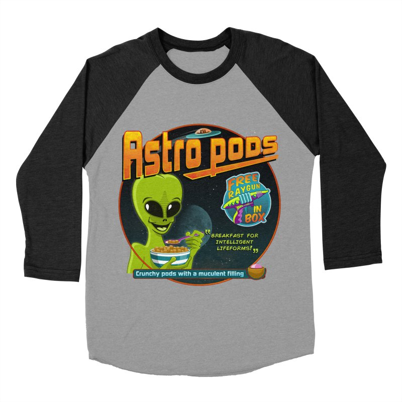 Astropods Men's Baseball Triblend Longsleeve T-Shirt by ferg's Artist Shop