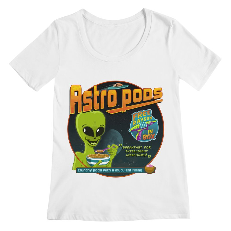 Astropods Women's Regular Scoop Neck by ferg's Artist Shop