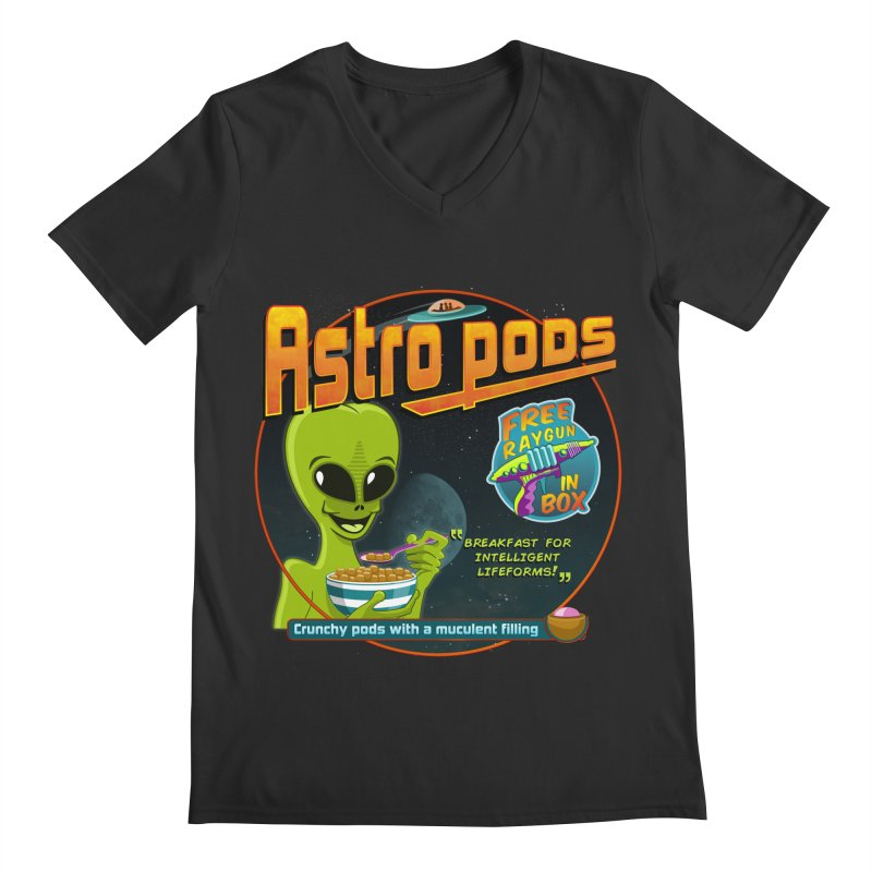 Astropods Men's V-Neck by ferg's Artist Shop