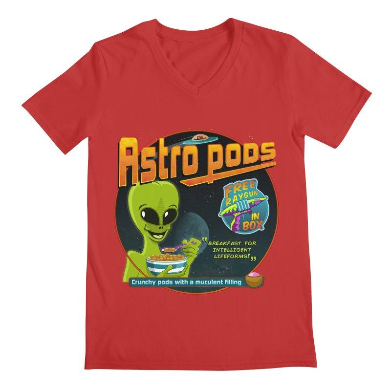 Astropods Men's V-Neck by ferg's Artist Shop