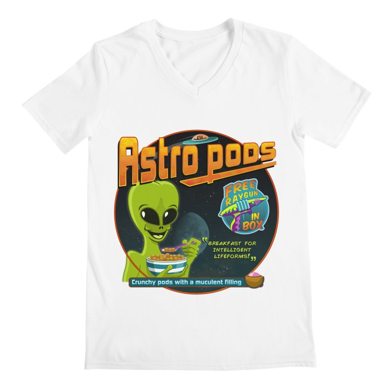Astropods Men's Regular V-Neck by ferg's Artist Shop