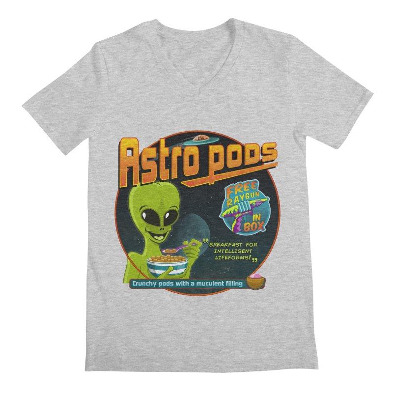 Astropods Men's Regular V-Neck by ferg's Artist Shop