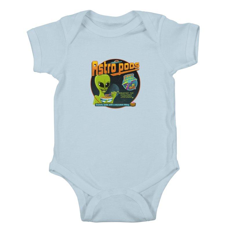 Astropods Kids Baby Bodysuit by ferg's Artist Shop