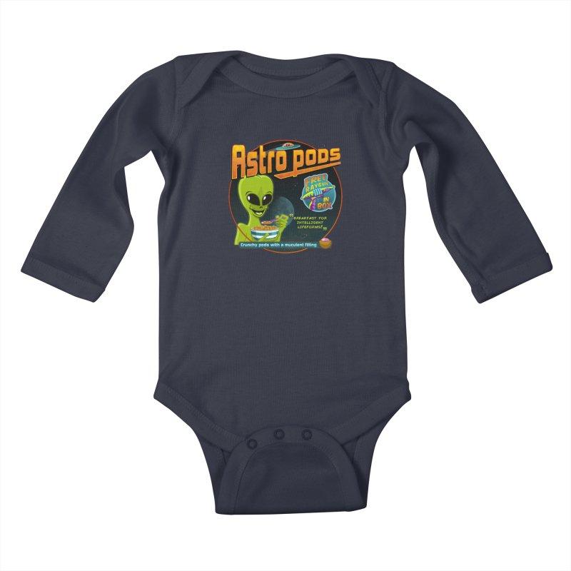 Astropods Kids Baby Longsleeve Bodysuit by ferg's Artist Shop