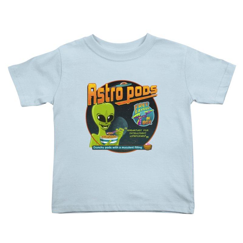 Astropods Kids Toddler T-Shirt by ferg's Artist Shop