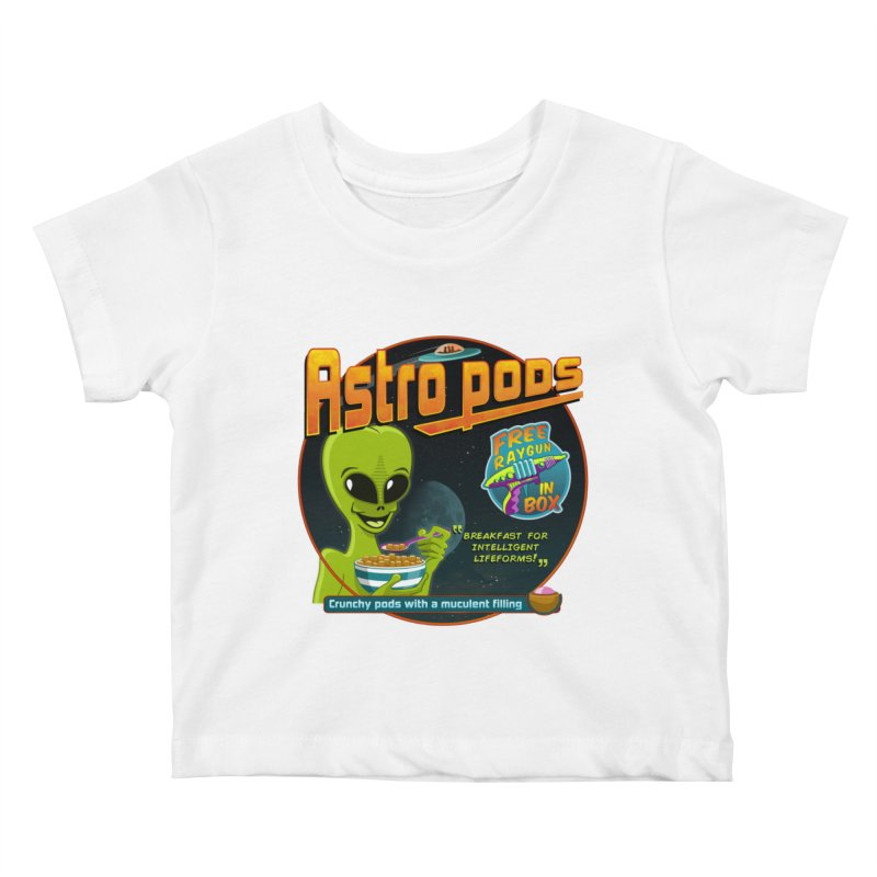 Astropods Kids Baby T-Shirt by ferg's Artist Shop