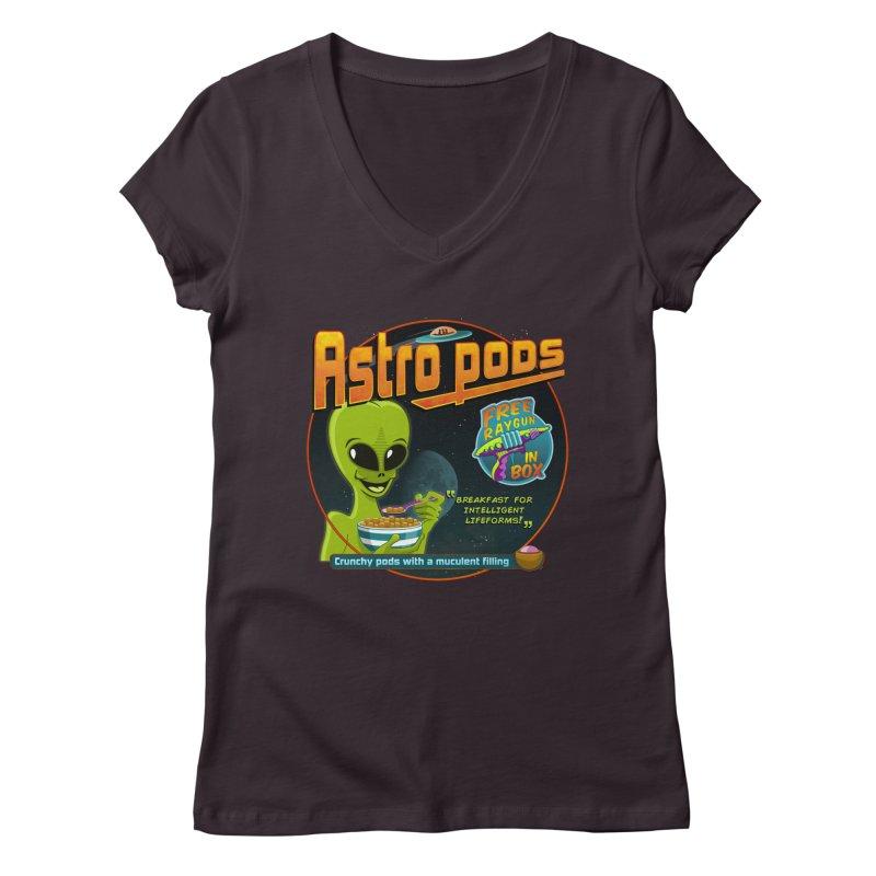 Astropods Women's V-Neck by ferg's Artist Shop