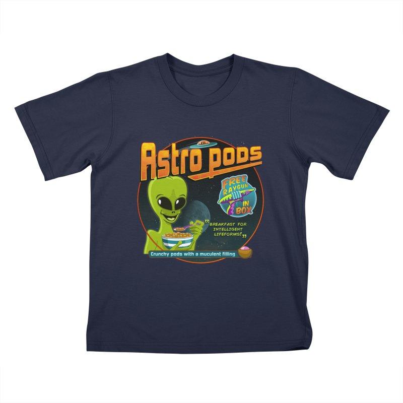 Astropods Kids T-Shirt by ferg's Artist Shop