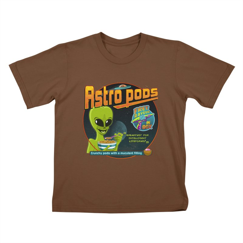 Astropods Kids T-Shirt by ferg's Artist Shop