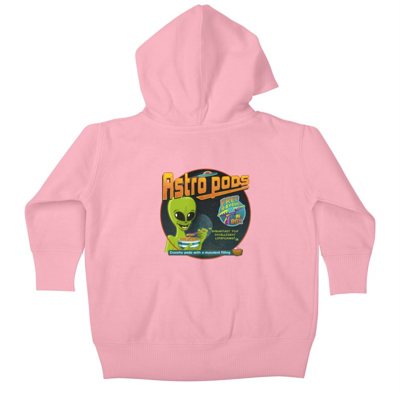 Astropods Kids Baby Zip-Up Hoody by ferg's Artist Shop