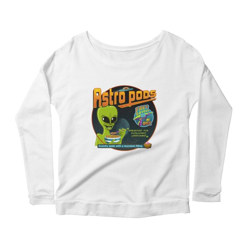 Astropods Women's Scoop Neck Longsleeve T-Shirt by ferg's Artist Shop