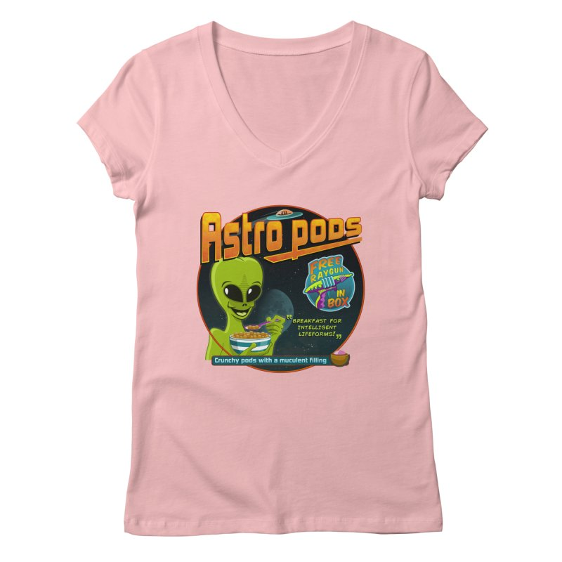 Astropods Women's V-Neck by ferg's Artist Shop