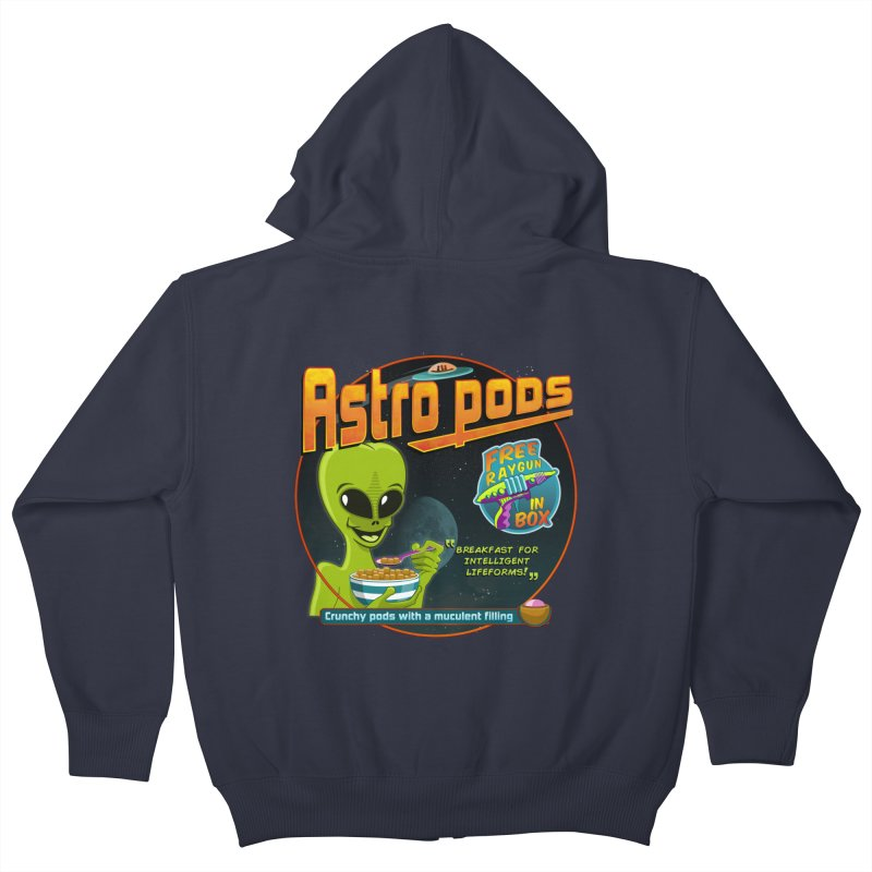 Astropods Kids Zip-Up Hoody by ferg's Artist Shop