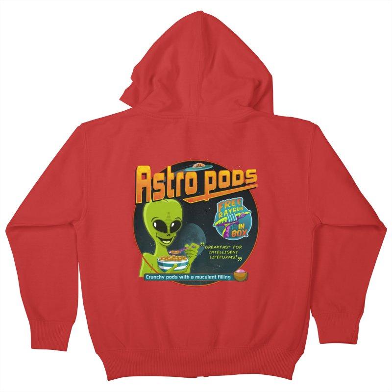 Astropods Kids Zip-Up Hoody by ferg's Artist Shop