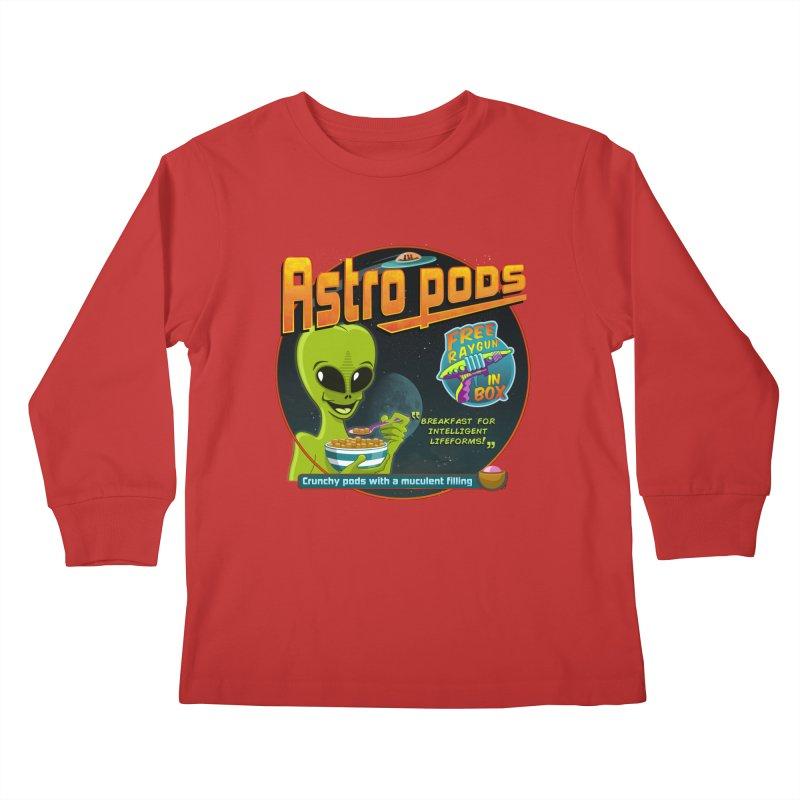 Astropods Kids Longsleeve T-Shirt by ferg's Artist Shop