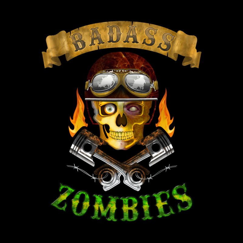 Badass Zombies Women's V-Neck by ferg's Artist Shop